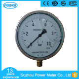indicateur de la pression 10bar rempli par liquide interne en laiton de caisse d'acier inoxydable de 150mm