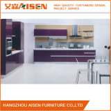 China Fabricante Renovative Colorful Lacquer Wood Kitchen Cabinet