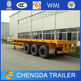 3 Axle 40FT Flatbed Trailer Container Transportのための新しく、Used
