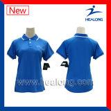 Healong sublimierte Drucken-Damen/Mens-Sleeveless Polo-Hemd