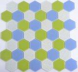Mosaico barato del vidrio del hexágono 4m m