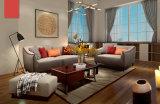 北のヨーロッパ様式のホーム家具、シンプルな設計ファブリックソファー(M610)