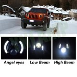 luz de la linterna del ojo LED Jk del ángel del CREE de 80W 7inch media