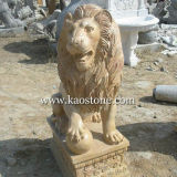 정원을%s 화강암 Stone Animal Statue Lion Carving Sculpture