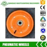 """"""" roda pneumática de borracha resistente do Wheelbarrow 16 com bordas fortes"""