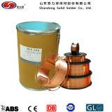 Fil de soudure enduit d'en cuivre solide de Shandong