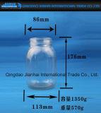 Grosses Glasglas für Essiggurke-Speicher-Stau-Glas