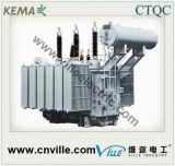 de Transformator van de Macht 300mva 220kv 3phase 3winding met op de Wisselaar van de Kraan van de Lading