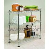 Многофункциональный шкаф полки кухни провода металла крома для дома
