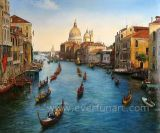 Pintura al óleo de Venecia Italia del arte de la lona (EVN-055)