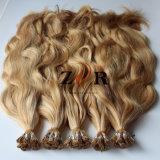 Queratina pre ligada eu derrubo o estilo ondulado das extensões do cabelo humano