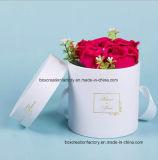 Rectángulo redondo de la cartulina para el tubo del papel de Kraft del Empaquetar-Arte de la flor