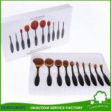 De nieuwe Enige Borstels van het Rouge van het Poederdonsje van de Stichting van de Borstel van de Make-up van de Vorm van de Tandenborstel Ovale Professionele