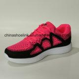 Sapatilhas das senhoras da forma que funcionam sapatas dos esportes na cor cor-de-rosa