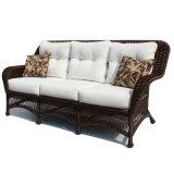 アルミニウムフレームとセットされる柳細工の藤のソファー