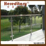 Ce, de Balustrade van het Balkon van de Trede van het Roestvrij staal van het Certificaat Csi met Glas (sj-H1153)