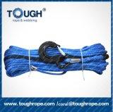 corde électrique synthétique de remorquage tressée par 12mm*30m avec la cosse tubulaire d'acier inoxydable de chemise du crochet 1m d'élévateur de l'oeil 3.15t, blocage d'extrémité de nez