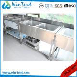 Bassin commercial de tablier de cuisine d'acier inoxydable pour le restaurant