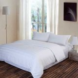 現代Style Bed Plain White HotelかHome Bedding Set