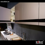High Glossy Grey Lacquer Kitchen Cabinetの大きいFridge