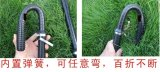 Bastón de goma portable del alboroto anti táctico militar del bastón de la alta calidad