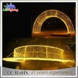 Luces calientes del arco del blanco LED de la decoración los 2.5m de la Navidad con el cable de goma