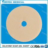 Feuille médicale de cicatrice de silicones de cicatrices hypertrophiques avec la garniture de silicium de gel