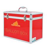 Caixa de cédula vermelha portátil de alumínio com tamanho pequeno do fechamento