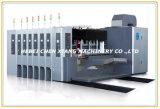 Impressão de cor 6 automática que entalha colando a máquina contrária do ejetor