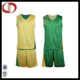 新しいパターン乾燥した適合の可逆バスケットボールのユニフォーム
