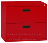 Gaveta 2 que trava o gabinete de armazenamento lateral do arquivo para o escritório