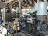 Recicl o granulador da máquina e do plástico com compressor