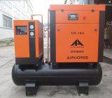 compresseur d'air combiné par 39cfm de la vis 7.5kw avec le réservoir et le dessiccateur d'air