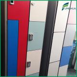 Kundenspezifische schöne HPL lamellenförmig angeordnete Speicher-Schließfächer