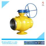Tipo de brida Metal Sentado Válvula de bola excéntrica doble, cuerpo de hierro dúctil Bct-E-BV04