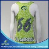 Reversible Jersey di Raceback di Lacrosse della ragazza su ordinazione di sublimazione