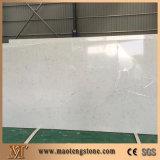 Parte superior branca da vaidade de quartzo de Carrara da cor branca