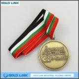 旧式な真鍮のカスタム金属メダル記念品の硬貨のギフトの円形浮彫り