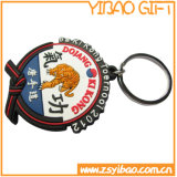 O anel chave do couro dos presentes do negócio com personaliza o logotipo (YB-k-002)