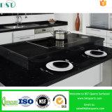 Zwarte de besnoeiing-aan-Grootte van de Melkweg Kunstmatige Countertop van het Kwarts voor Keuken