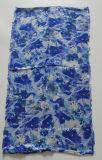 最上質の青い印刷されたビスコース無限スカーフ(HWBVS057)