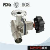 Válvula neumática del diafragma de la parte inferior del tanque del acero inoxidable (JN-DV2004)