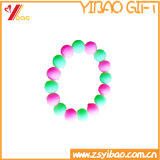 Bracelete de borracha feito sob encomenda da faixa do silicone da faixa de pulso do silicone do anel de borracha (XY-HR-106)