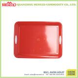 Bandeja de melamina aprovada pela FDA de qualidade superior com alças