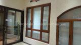 Finestra di vetro del blocco per grafici di lusso di legno solido/finestra di legno legno del larice/della finestra