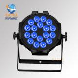 Lumière de PARITÉ du prix usine de RoHS Certiificate 18LEDs*10W RGBA/RGBW DMX512 DEL avec Powercon pour l'événement d'usager de disco de boîte de nuit