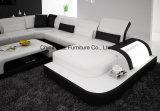 Sofá moderno del cuero genuino de Australia para la sala de estar con el LED