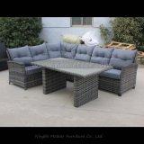 Mtc-268 PE Meubles d'extérieur Rattan Garden Corner Sofa Dining Set