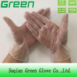 Голубой порошок чистки свободно и напудренные устранимые перчатки PVC с деятельностью дома