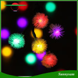 50 LED Chuzzle Ball Natal Luz Solar Produto Decorativo Solar String Light Outdoor Waterproof Solar Fairy Lights for Festival Holiday Party